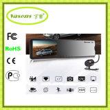 FHD 1080P Dual o carro DVR do gravador de vídeo do espelho de Rearview da lente