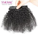 Clip riccia crespa di Afro brasiliano nelle estensioni dei capelli