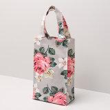 Wasserdichtes Belüftung-Segeltuch-Rosen-Blumenmuster-Frauen-Handtasche (A078)