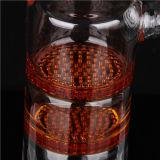 Doppelte bernsteinfarbige Farben-Honig-Kamm-Filtrierapparat-Aschen-Fangfederbleche mit der 18.8mm Verbindung für Glas Bongs und leitet AC-008