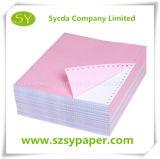 Papier d'imprimerie de papier d'ordinateur de NCR de la qualité 3ply