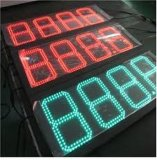 O preço da gasolina do diodo emissor de luz assina o tempo Sign&#160 de Digitas; O preço de combustível assina o indicador do posto de gasolina do diodo emissor de luz