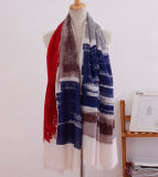 Streifen gedruckter Baumwollfrauen-Form-langer Schal (YKY1120)