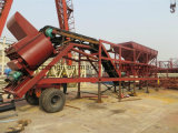 75m3/H Mobile Concrete Mixing Plant Hot Sale in Kanada