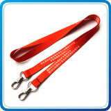 Printed su ordinazione Lanyard con Metal Hooks per Decoration