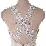 2016 nouvelles robes de mariage de robe nuptiale de modèle d'illusion ene ivoire de sirène