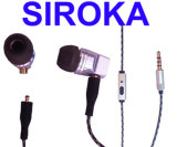 Наушники в-Уха Micropro Шум-Изолируя с связанным проволокой Stereo