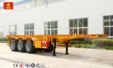 40FT container die de Semi Aanhangwagen van de Vrachtwagen van het Skelet Vervoer