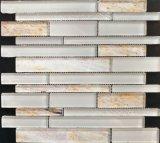 Белые мраморный стеклянные плитки мозаики
