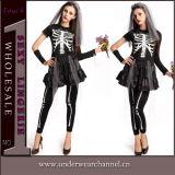 """Trajes extravagantes """"sexy"""" de Halloween do partido de Theatrial do crânio da mulher adulta (TENN89126)"""