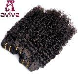 Enroulement profond de cheveu brésilien de Vierge d'extensions de cheveux humains de 100%