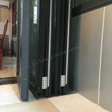 Высокомарочная алюминиевая дверь складчатости с Окн-Тенями