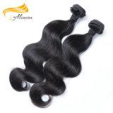 Человеческие волосы оптового дешевого тела цены индийского развевая