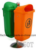 singolo/doppio contenitore della pattumiera di plastica 50L (EN840/PP)