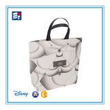 Color Plegable bolsa de compras de papel personalizado con mango torcido