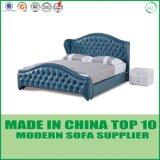 Base moderna do couro genuíno da mobília do quarto