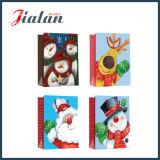 Bolsa de papel barata impresa insignia de encargo de la Navidad del OEM de la buena calidad