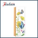 Цветастыми мешок вина слоения 2 бабочки штейновыми напечатанный сторонами бумажный