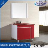 PVC tamaño pequeño de la cabina de cuarto de baño del soporte rojo y blanco del suelo