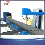 Tipo de flutuação máquina do mandril da base do rolo do cortador de tubulação de aço do CNC