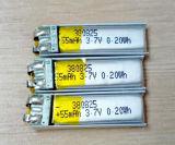 De Navulbare Batterij 3.7V 55mAh 380825 van het lithium