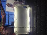 Het nieuwe Hete LEIDENE van Luminated van de Luxe Geval van de Telefoon met Bank van de Macht van het Geval van PC Selfie de Harde voor iPhone 6 het Geval van de Dekking van de Telefoon van de Cel