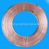 50m langer flexibler Pfannkuchen-aufgerolltes kupfernes Rohr für Riss Wechselstrom