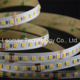 Lumière de bandes imperméable à l'eau flexible de la liste 24VDC DEL SMD2835 DEL de DEL
