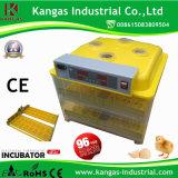 Capacité d'incubateur automatique d'oeufs des meilleurs prix de 96 oeufs pour des poulets