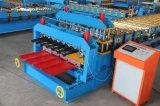 Roulis en acier matériel de Double couche de Dx Cr45 Galavanzed formant la machine