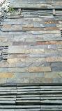 Placage rouillé de pierre de pile d'ardoise/Ledgestone/tuile cultivée de mur en pierre