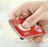 Tarjetero mano Tipo Push, titular de la tarjeta de visita del esmalte suave
