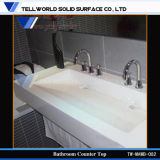 Lavabo de salle de bains de Corian/bassin moderne