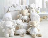 유기 직물 연약한 아기 견면 벨벳 동물성 작풍 장난감