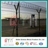 Rete fissa dell'aeroporto di alta obbligazione del PVC/aeroporto rivestiti galvanizzati di vendita caldi che recinta il collegare superiore della lametta