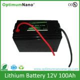 sistema solar do íon do bloco LiFePO4 Li da bateria de lítio de 12V 100ah