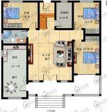 Casa pré-fabricada de estilo europeu de estilo europeu 2 andares com sótão