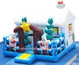 Inflatabe Sankt Weihnachtshaus für Weihnachtsfestival-Dekoration