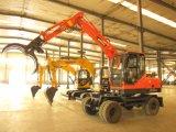Máquina da construção de China, máquina escavadora da roda, agarrando a máquina de madeira da madeira do prendedor da máquina escavadora