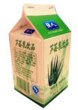 우유 주스를 위한 500ml B 작풍 박공 상단 상자 또는 판지 또는 크림 또는 포도주 또는 요구르트 또는 물