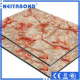 Painel composto de alumínio do revestimento de pedra natural da superfície do granito da série
