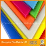 Tarjeta de acrílico de Persper/hoja de acrílico del color PMMA para la impresión