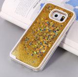 Caixa líquida do telefone do Quicksand da areia da estrela do PC do produto novo 3D de baixo preço para o caso da tampa da nota 4/5 da galáxia J2/J5/J7 Samsung de Samsung