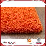 毛羽織り敷物の居間及び寝室の固体オレンジ5*8領域敷物のシャギーなカーペット