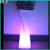 LED LED jardineras y muebles cuadrado de la flor macetas de plástico