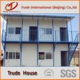 Seitenansicht des vorfabrizierten Hauses als temporäres lebendes Haus