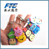Silicone Keychain/brandamente corrente chave do PVC Keychain /Rubber