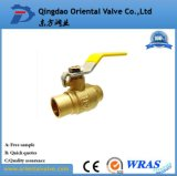 Vávula de bola de cobre amarillo aprisa conectada de cobre amarillo de la vávula de bola de la calidad agradable ISO228