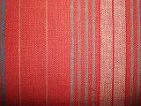 Tejido rayado de rayas de lino