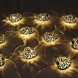 12のLEDのモロッコの中心ストリングランタンLEDの豆電球の庭